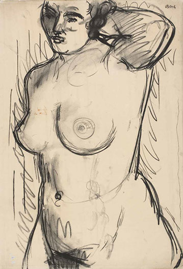 Torso 1938 drawing by Martin Bloch
