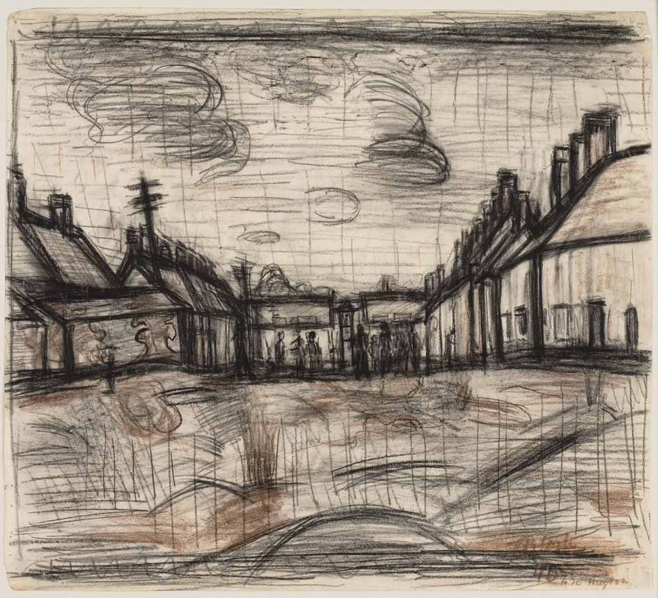 Internment Camp 1940 drawing by Martin Bloch