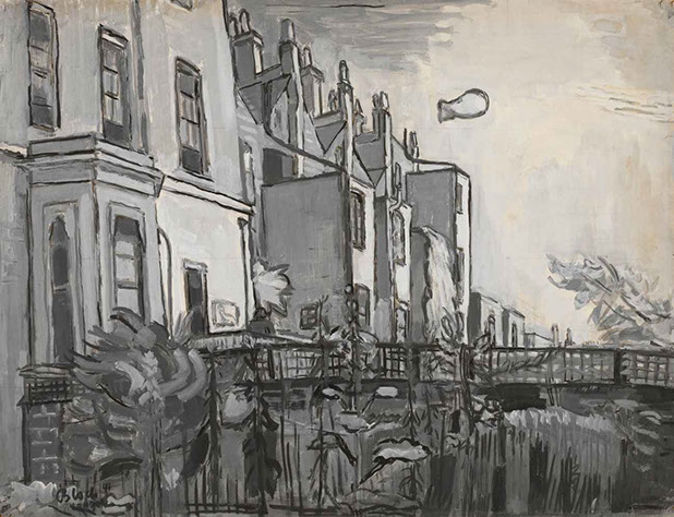 Campden Hill Road, London 1944 painting by Martin Bloch