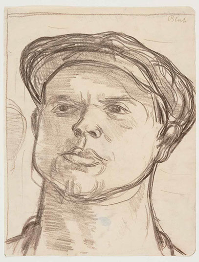 Welsh Miner 1945-6 drawing by Martin Bloch