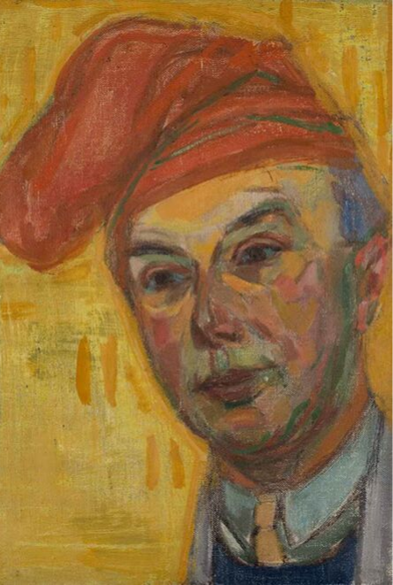 Self Portrait with Red Cap 1942 painting by Martin Bloch