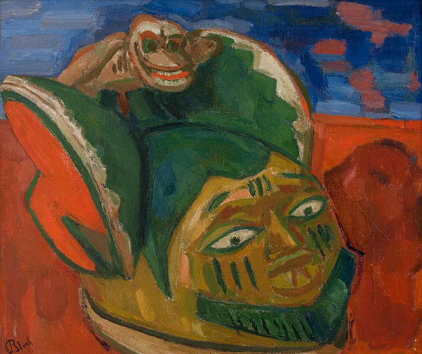 African Mask 1941 painting by Martin Bloch