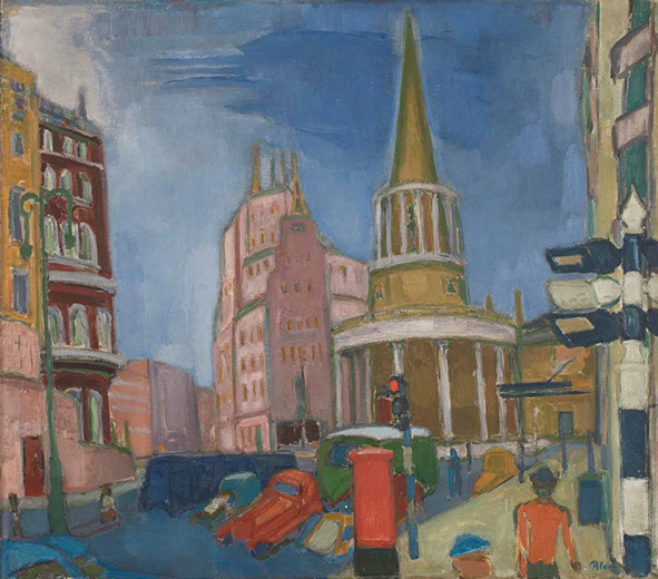 All Souls and the BBC 1938 painting by Martin Bloch