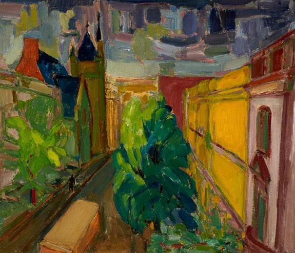 Allen Street 1944 painting by Martin Bloch