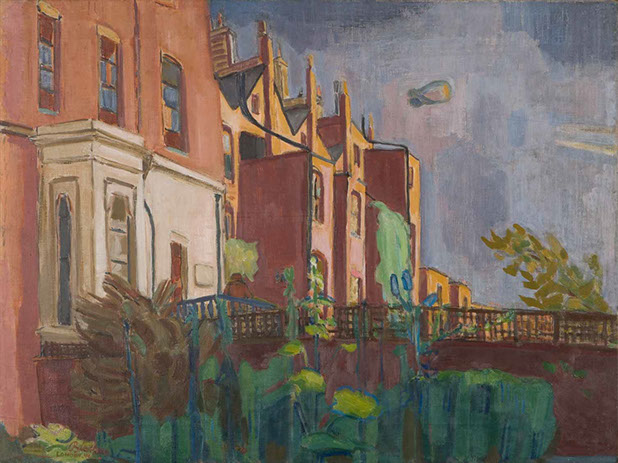 Backs of Houses 1941-44 painting by Martin Bloch
