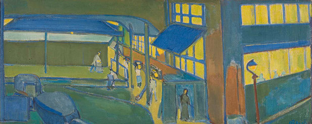 Bakers At Night 1935 painting by Martin Bloch