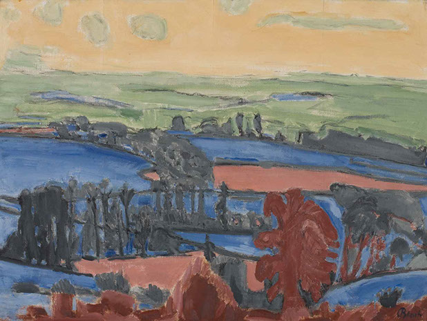 Blackmore Vale 1946 painting by Martin Bloch