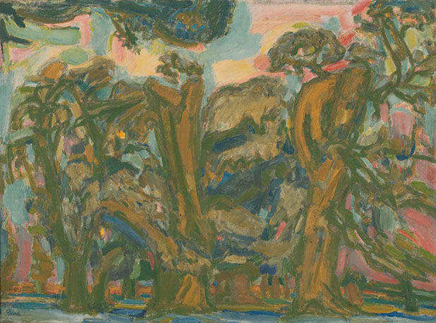 Chestnut Trees 1949 painting by Martin Bloch