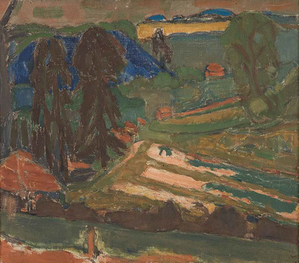 Cressbeds Near Shaftesbury 1946 painting by Martin Bloch