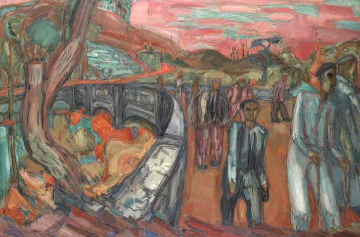 Down from Bethesda Quarry 1950-51 painting by Martin Bloch