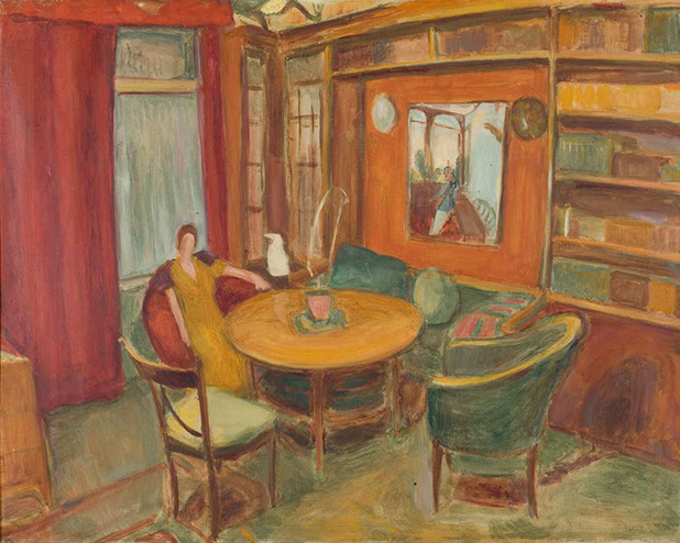 Drawing Room, Berlin 1920 painting by Martin Bloch