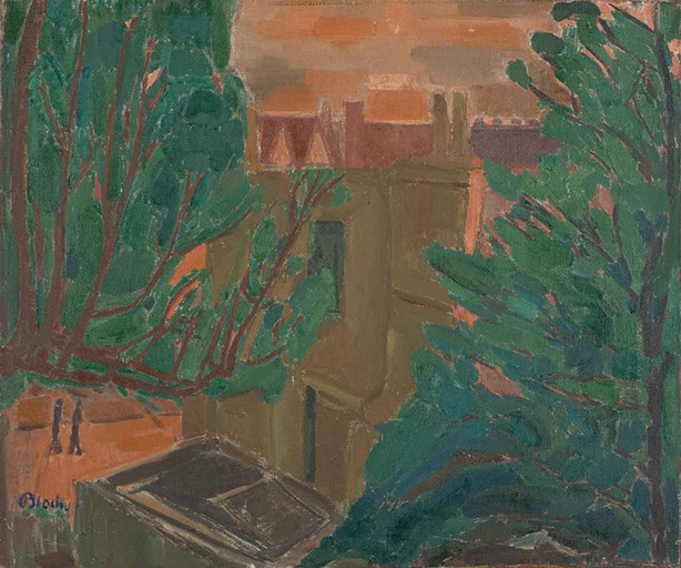 Dusk in Wartime London 1944 painting by Martin Bloch