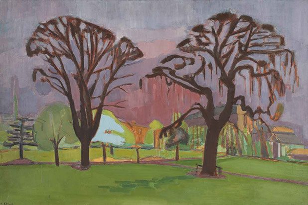 Edwardes Square in Spring 1937 painting by Martin Bloch
