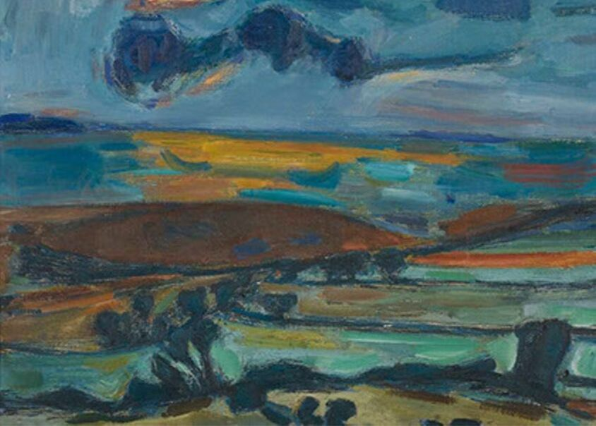 Estuary of the River Dee 1953 painting by Martin Bloch