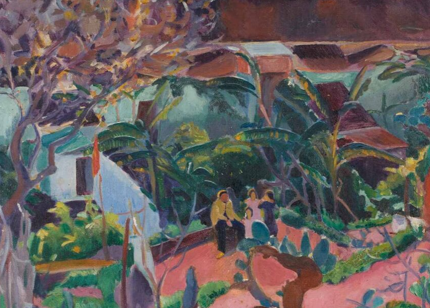 Family on a Patio, Malaga 1916 painting by Martin Bloch