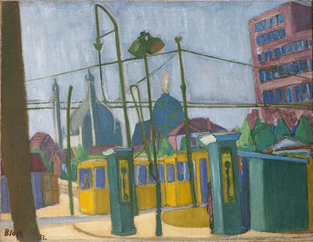 Fehrbellinerplatz, Berlin 1934 painting by Martin Bloch