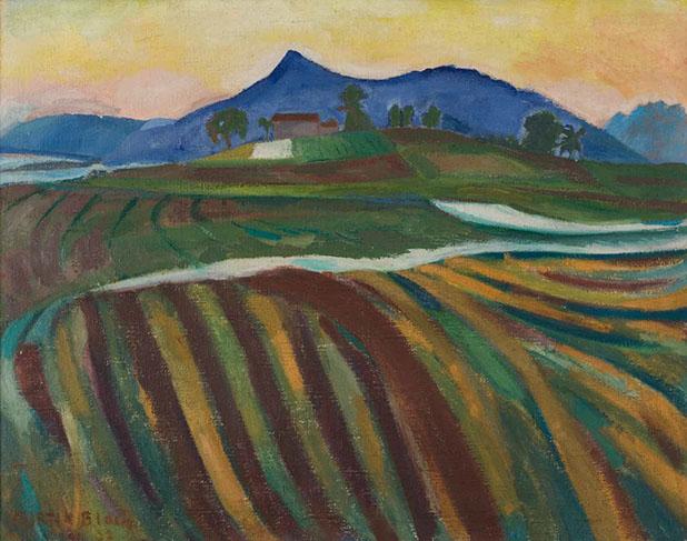 Fields in Bavarian Fields 1922 painting by Martin Bloch