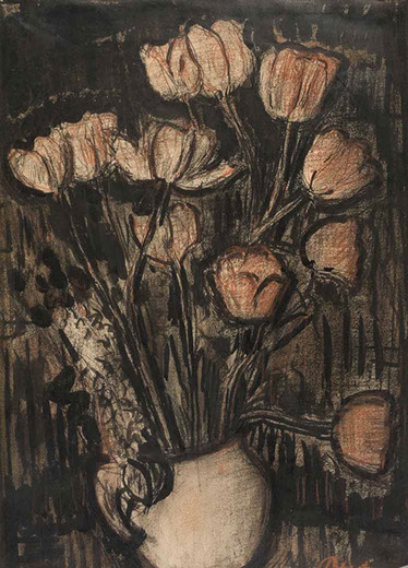 Flowers 1941 painting by Martin Bloch