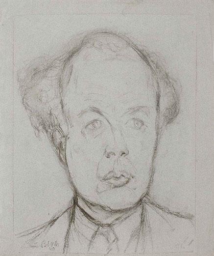 Kurt Jooss 1940 drawing by Martin Bloch