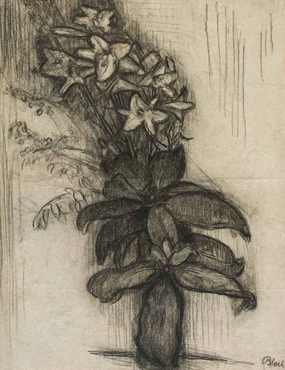 Flowers by Night drawing by Martin Bloch