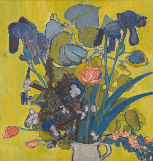 Iris and Tulips 1941 painting by Martin Bloch