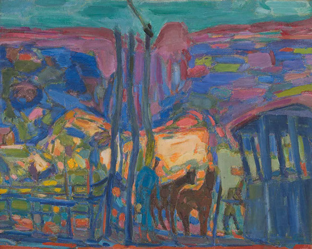New Mexico Ranch 1949 painting by Martin Bloch