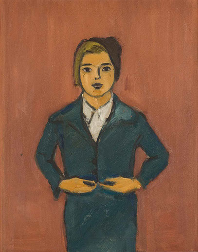 Portrait of Barbara 1937 painting by Martin Bloch