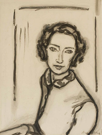 Portrait of Chloe Macmillan 1938 painting by Martin Bloch
