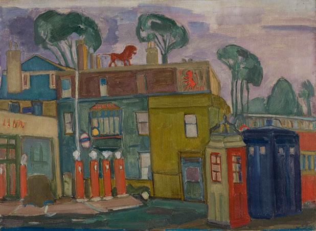Red Lion, Barnes 1939 painting by Martin Bloch
