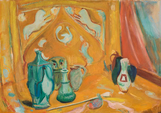 Still Life on Yellow Ground 1921 painting by Martin Bloch