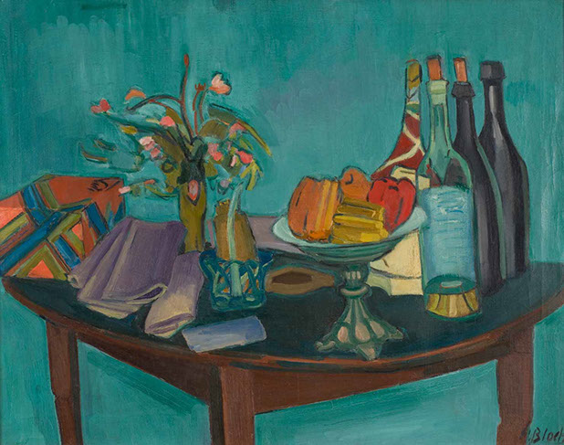 Still Life with Green Bottles 1927 painting by Martin Bloch