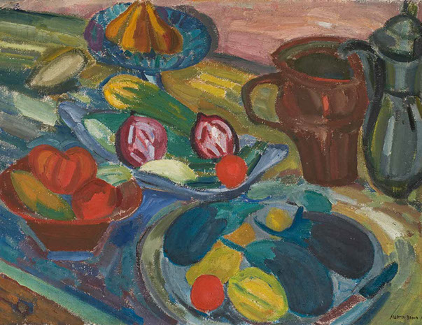 Still Life with Jugs and Aubergines 1924-5 painting by Martin Bloch