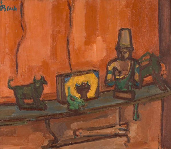 Still Life with Oriental Figure 1944 painting by Martin Bloch