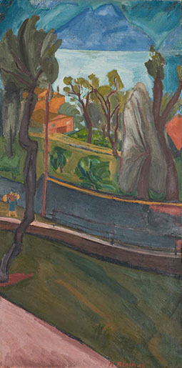 Terraces, Lago di Garda 1928 painting by Martin Bloch