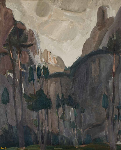 The Dolomites 1926-7 painting by Martin Bloch