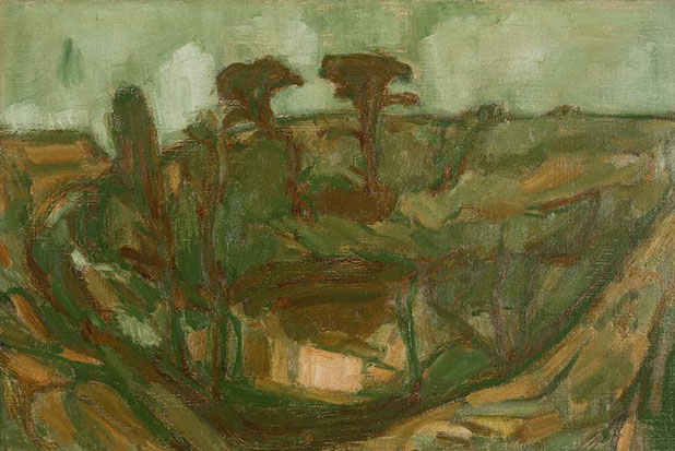 The Womb of the Land 1954 painting by Martin Bloch