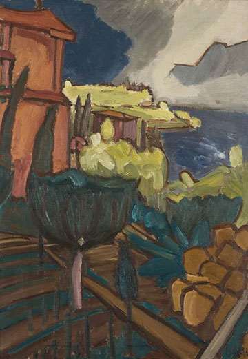 Thunderstorm Approaching 1930 painting by Martin Bloch