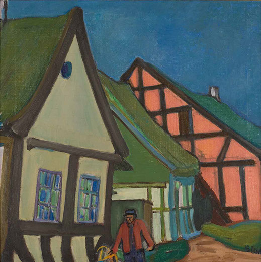 Village on Thuro 1934-5 painting by Martin Bloch
