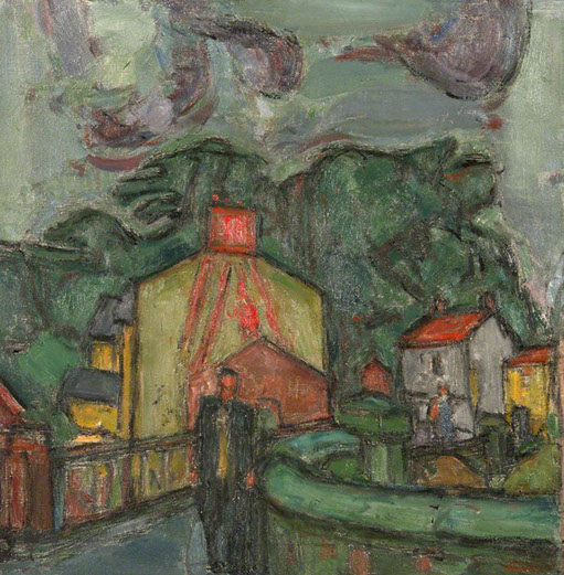 Welsh Village 1953 painting by Martin Bloch